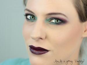 Nachgeschminkt Purple & Green Look
