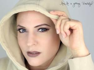 Blue Eyes Sepia Lips